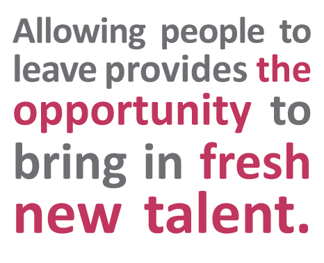 Allowing people to leave provides the opportunity to bring in fresh new talent. - Counter-Offers: What You Need to Know