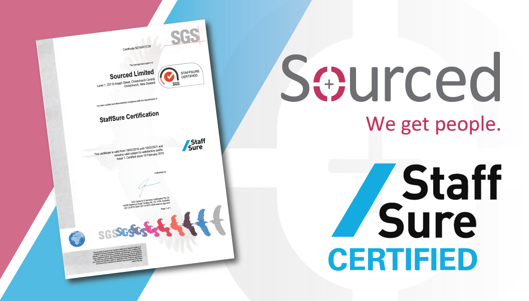 Sourced Becomes StaffSure Certified