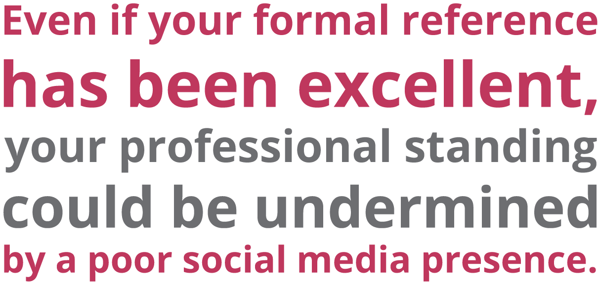 Can your social media presence undermine good reference | Sourced IT Recruiter