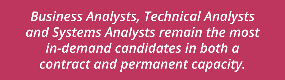 Who's in Demand - BAs, Technical Analysts, Systems Analysts, Technical Support