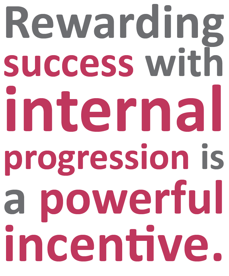 Rewarding success with internal progression is a powerful incentive | Sourced - Christchurch IT Recruitment