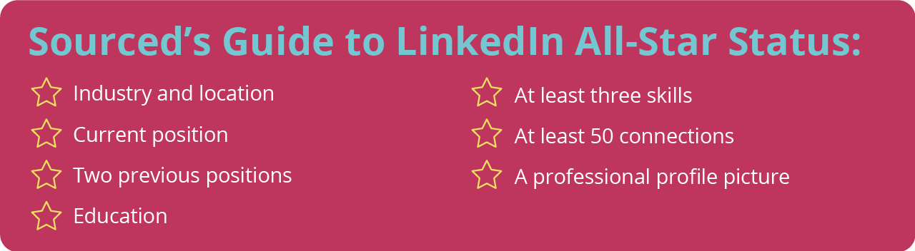 Sourced's Guide to LinkedIn All-Star Status
