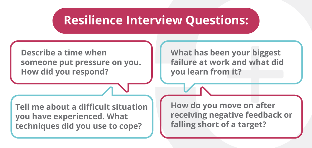 Ask interview questions to assess resilience in candidates