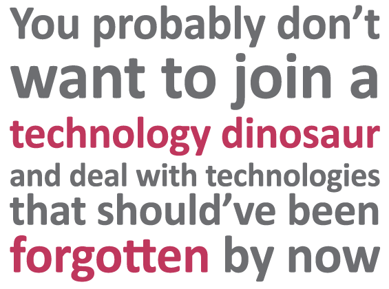 Technology dinosaur | Sourced - Christchurch IT Recruitment