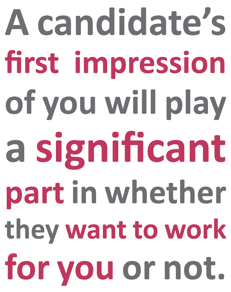 How important is a candidate's first impression